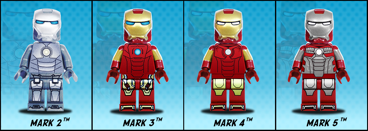 Iron Man Hall of Armour Lego minifigures